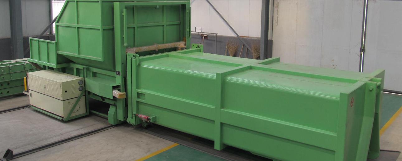 后部平台式上投料垃圾压缩设备(13立方)